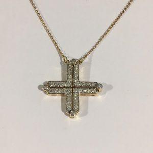 Jewelry - 14k Yellow Gold Diamond 💎 Cross Pendant